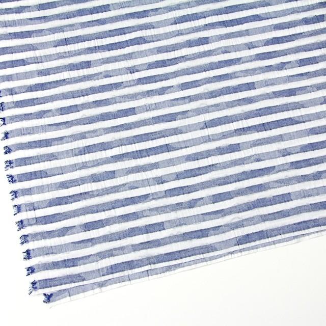 コットン×ボーダー(ブルー)×迷彩ジャガード_全2色 イメージ2