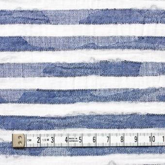 コットン×ボーダー(ブルー)×迷彩ジャガード_全2色 サムネイル4