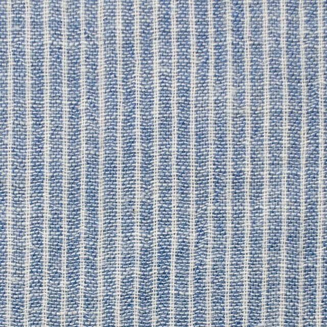 コットン&リネン×ストライプ(ブルー)×Wガーゼ_全2色 イメージ1