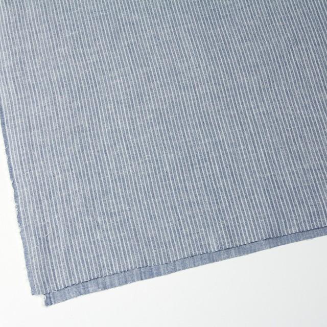 コットン&リネン×ストライプ(ブルー)×Wガーゼ_全2色 イメージ2