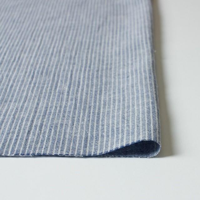 コットン&リネン×ストライプ(ブルー)×Wガーゼ_全2色 イメージ3
