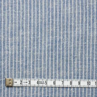 コットン&リネン×ストライプ(ブルー)×Wガーゼ_全2色 サムネイル4