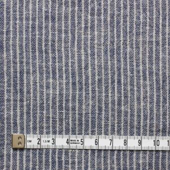 コットン&リネン×ストライプ(ネイビー)×Wガーゼ_全2色 サムネイル4