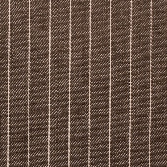 コットン×ストライプ(ブラウン)×デニム_全3色 サムネイル1