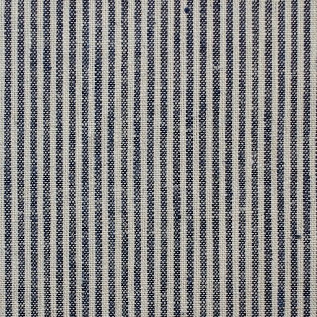 コットン&リネン×ストライプ(コームストライプ)×薄キャンバス_全2柄 イメージ1
