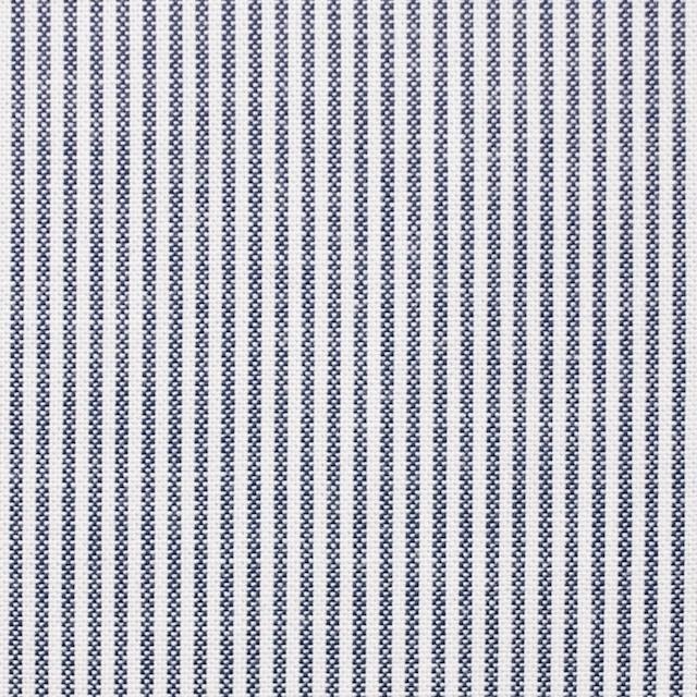 コットン×ストライプ(ブルー)×オックスフォード イメージ1