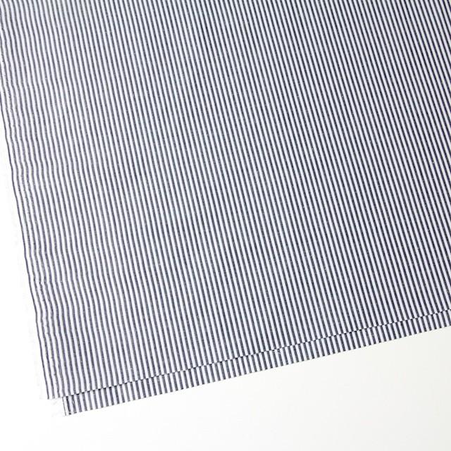 コットン&リネン×ストライプ(ネイビー)×ブロード イメージ2