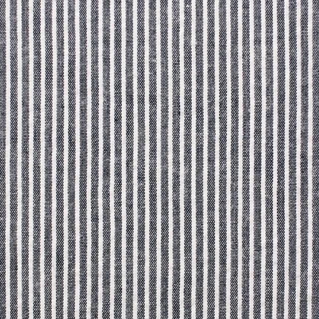 コットン&リネン×ストライプ(ダークネイビー)×コードレーン イメージ1
