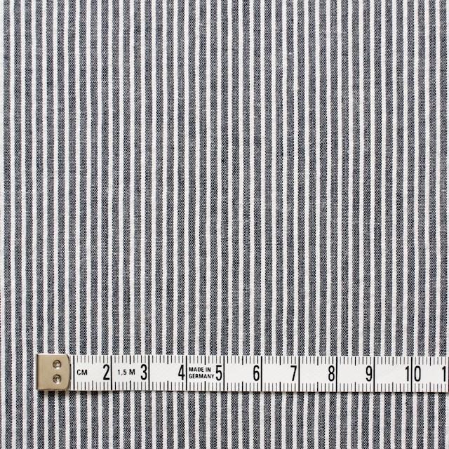 コットン&リネン×ストライプ(ダークネイビー)×コードレーン イメージ4