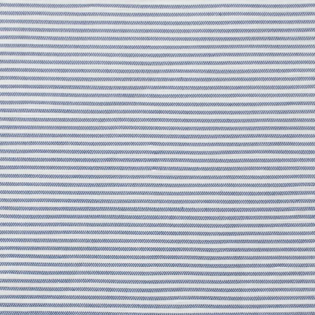 コットン&リネン×ボーダー(ブルー)×ブロード_イタリア製 イメージ1