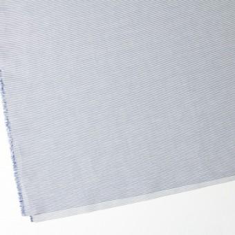 コットン&リネン×ボーダー(ブルー)×ブロード_イタリア製 サムネイル2
