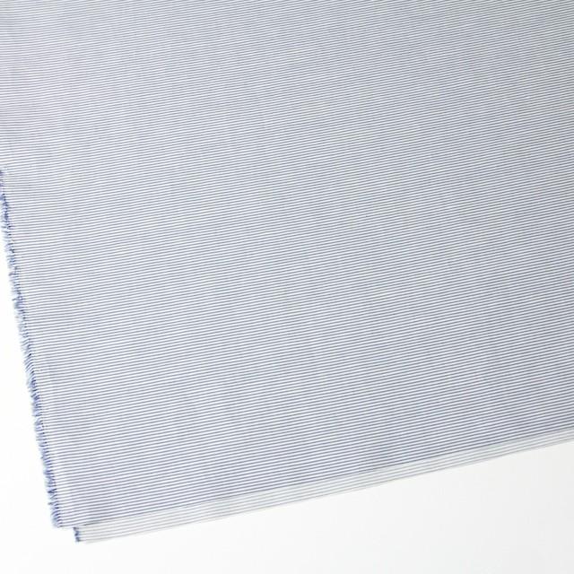 コットン&リネン×ボーダー(ブルー)×ブロード_イタリア製 イメージ2