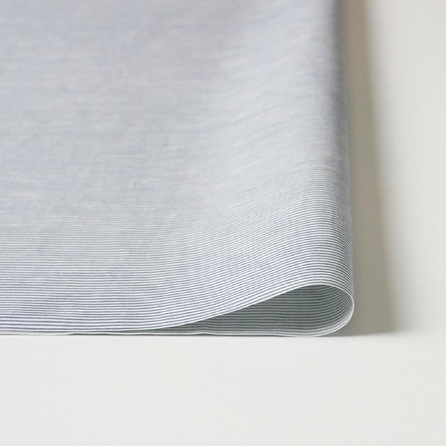 コットン&リネン×ボーダー(ブルー)×ブロード_イタリア製 イメージ3