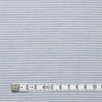 コットン&リネン×ボーダー(ブルー)×ブロード_イタリア製 サムネイル4