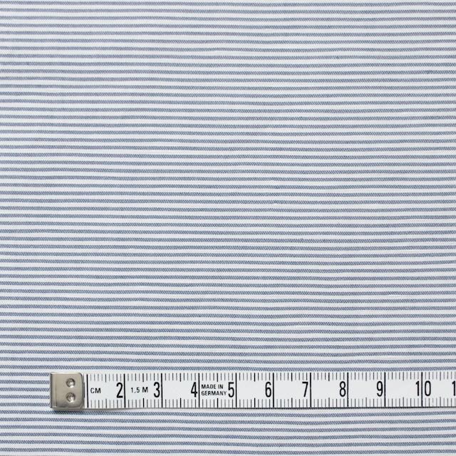 コットン&リネン×ボーダー(ブルー)×ブロード_イタリア製 イメージ4