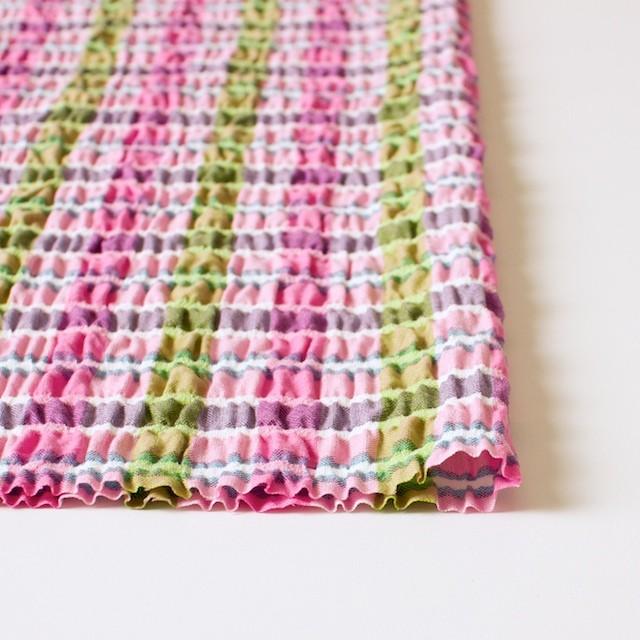 ポリエステル&レーヨン混×チェック(ピンクミックス)×シャーリング_全3色 イメージ3
