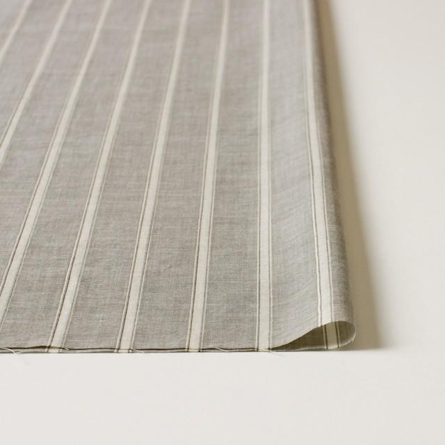 コットン&リネン×ストライプ(カーキベージュ)×薄ダンガリー_全3色 イメージ3