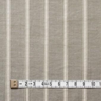 コットン&リネン×ストライプ(カーキベージュ)×薄ダンガリー_全3色 サムネイル4