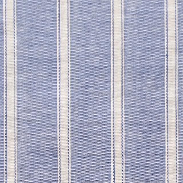 コットン&リネン×ストライプ(ブルー)×薄ダンガリー_全3色 イメージ1