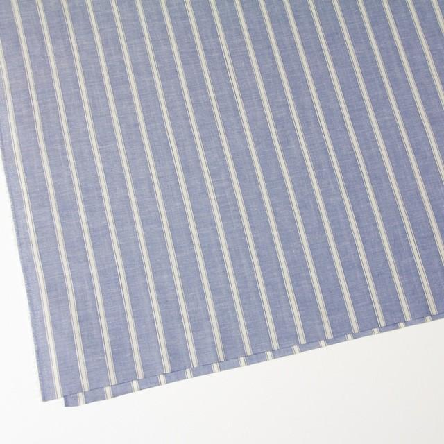コットン&リネン×ストライプ(ブルー)×薄ダンガリー_全3色 イメージ2