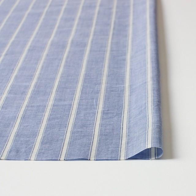 コットン&リネン×ストライプ(ブルー)×薄ダンガリー_全3色 イメージ3