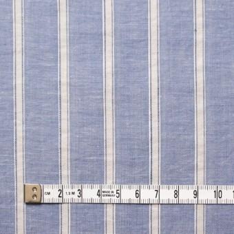 コットン&リネン×ストライプ(ブルー)×薄ダンガリー_全3色 サムネイル4