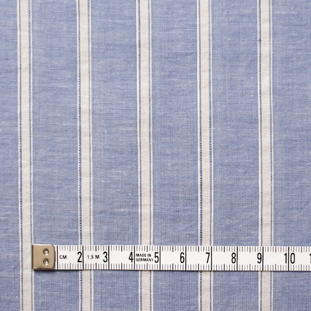 コットン&リネン×ストライプ(ブルー)×薄ダンガリー_全3色 イメージ4