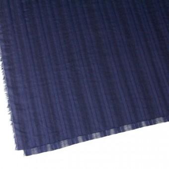 コットン×ストライプ(ネイビー)×からみ織り サムネイル2