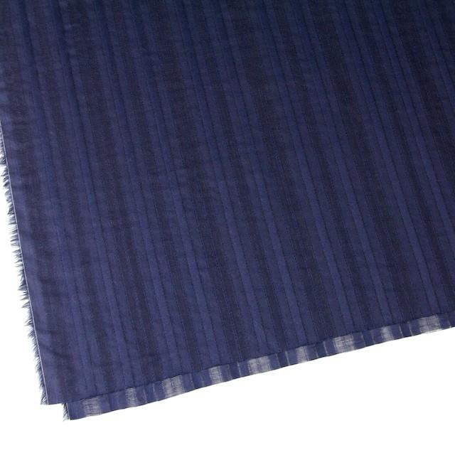 コットン×ストライプ(ネイビー)×からみ織り イメージ2