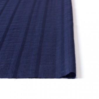 コットン×ストライプ(ネイビー)×からみ織り サムネイル3