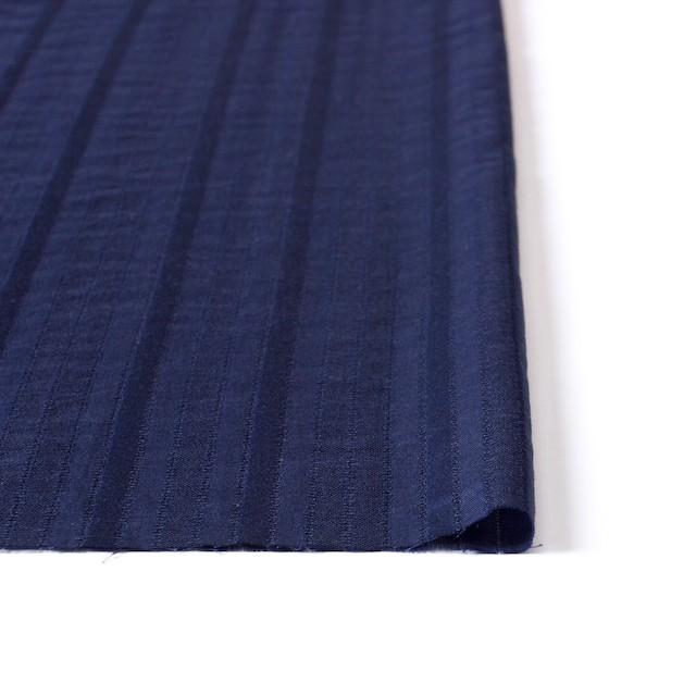 コットン×ストライプ(ネイビー)×からみ織り イメージ3