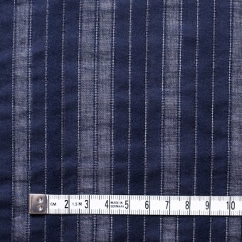 コットン×ストライプ(ネイビー)×からみ織り サムネイル4