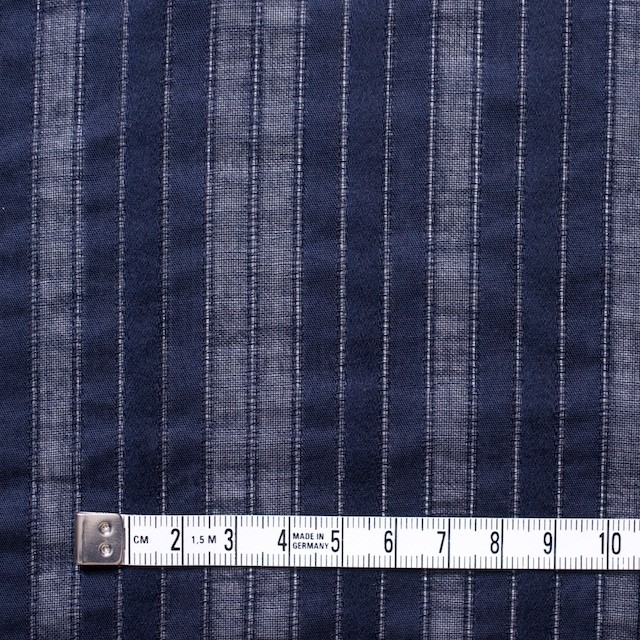 コットン×ストライプ(ネイビー)×からみ織り イメージ4