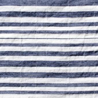 コットン&ポリエステル混×ボーダー(ネイビー)×ローンワッシャー_全3色 サムネイル1