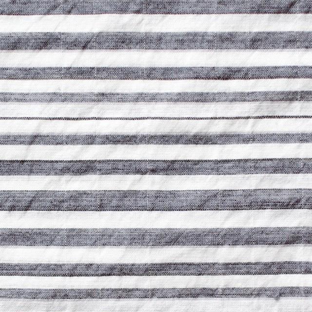 コットン&ポリエステル混×ボーダー(チャコールグレー)×ローンワッシャー_全3色 イメージ1