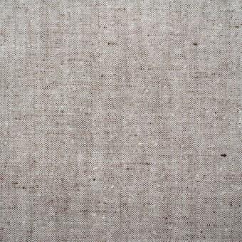 リネン&コットン×無地(オフホワイト&ブラウン)×キャンバス(ハード加工) サムネイル1
