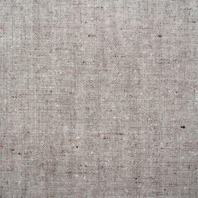 リネン&コットン×無地(オフホワイト&ブラウン)×キャンバス(ハード加工) イメージ1