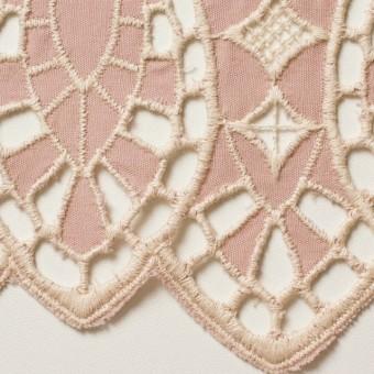 コットン×幾何学模様(アンティークローズ)×シーチング刺繍 サムネイル1