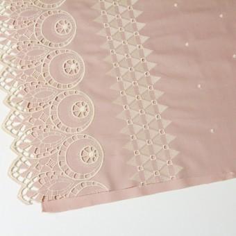 コットン×幾何学模様(アンティークローズ)×シーチング刺繍 サムネイル2