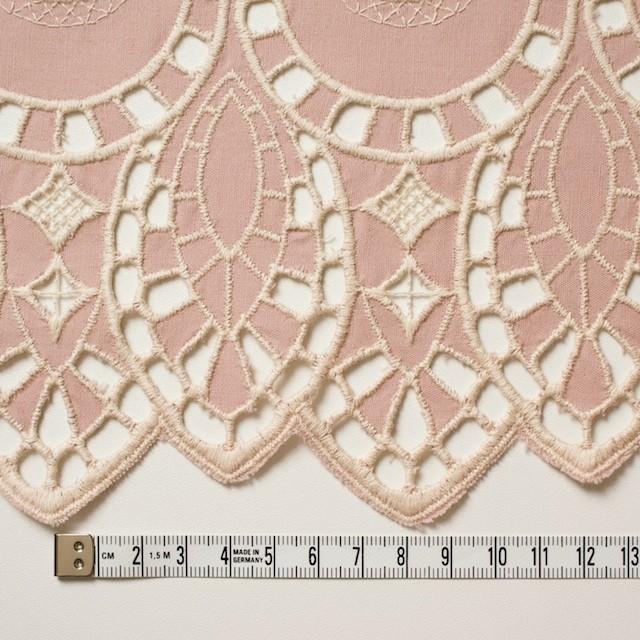 コットン×幾何学模様(アンティークローズ)×シーチング刺繍 イメージ4
