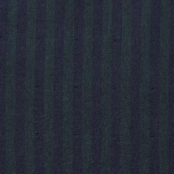 コットン×ストライプ(グリーン×ネイビー)×Wガーゼ サムネイル1