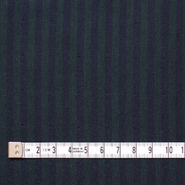 コットン×ストライプ(グリーン×ネイビー)×Wガーゼ イメージ4