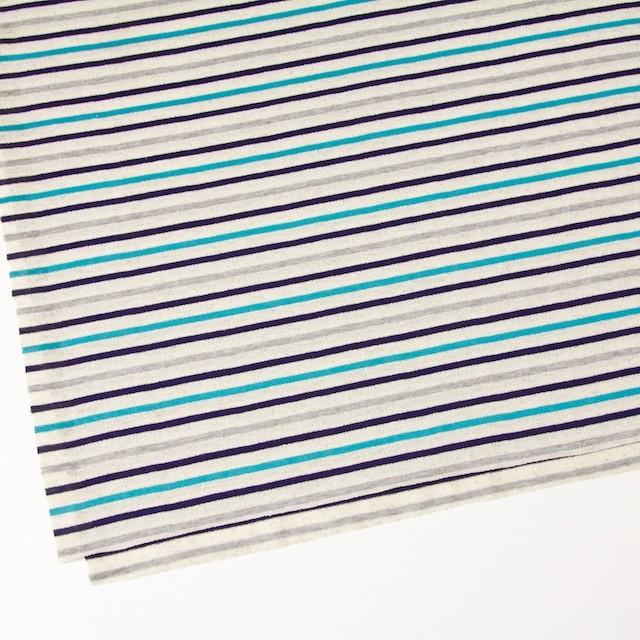 コットン&リネン×ボーダー(ターコイズ&グレー)×天竺ニット_全2色 イメージ2
