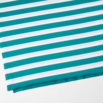 コットン×ボーダー(エメラルドグリーン)×天竺ニット_全3色 サムネイル2