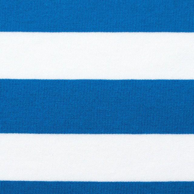 コットン×ボーダー(スカイブルー)×天竺ニット_全3色 イメージ1