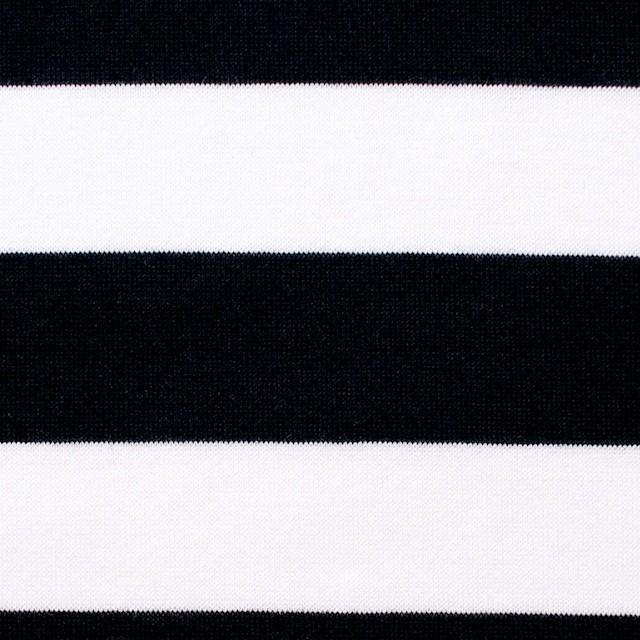 コットン×ボーダー(ブラック)×天竺ニット_全3色 イメージ1