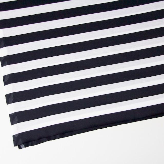 コットン×ボーダー(ブラック)×天竺ニット_全3色 イメージ2