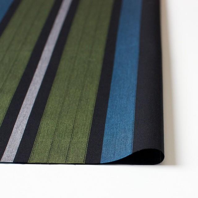 コットン×ストライプ(ブラック)×からみ織 イメージ3