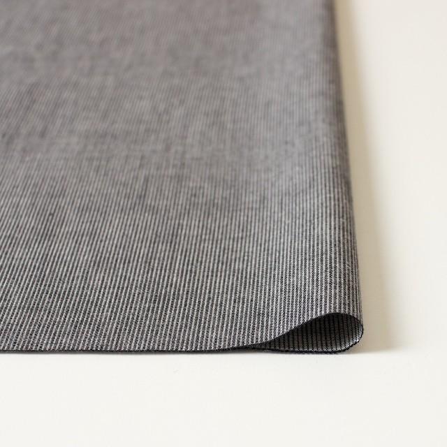 コットン×ストライプ(ブラック)×ダンガリーコード織 イメージ3