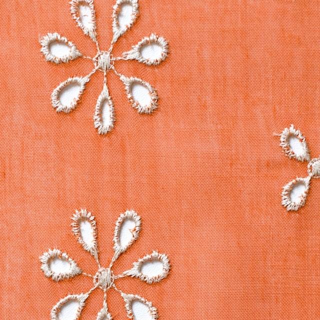ポリエステル×フラワー(オレンジ)×ボイル刺繍(着分)_全3色 イメージ1